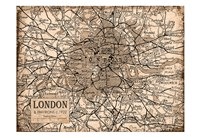 Environs London Beige Fine Art Print