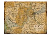 Environs Rome Sepia Fine Art Print