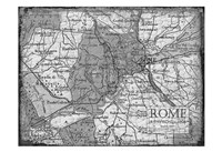 Environs Rome Gray Fine Art Print