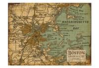 Environs Boston Sepia Fine Art Print