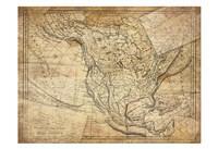 Vintage Map I Framed Print