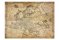Vintage Map II Framed Print