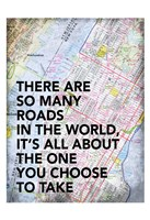 Roads in The World Framed Print