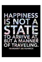 A Manner of Traveling Framed Print