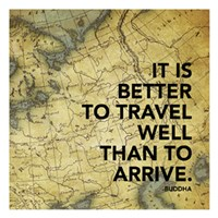 Travel Well Map Fine Art Print
