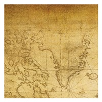 Vintage Map A Framed Print