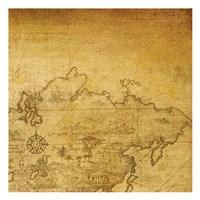 Vintage Map D Framed Print