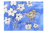 Poinsettia Bird Song Fine Art Print