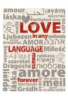 Love Lanquages 3 Fine Art Print