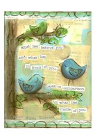 Birds Blue 2 Fine Art Print
