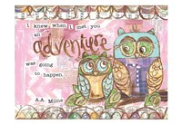 Pastel Owl Family 6 I Knew When I Met You An Adventure Fine Art Print