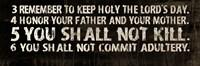 10 Commandments (3-6) Fine Art Print