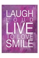Watercolor Laugh Framed Print