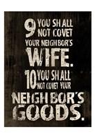 10 Commandments (9 & 10) Fine Art Print