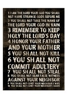 Full 10 Commandments Fine Art Print