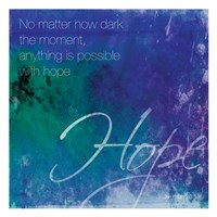 Watercolor Hope Quoted Fine Art Print