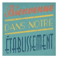 Welcome French Framed Print
