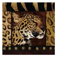 Leopard with Wild Border Framed Print