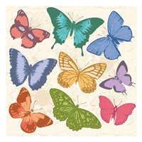 Colorful Butterflies Full Framed Print