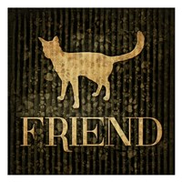 Friend (black background) Fine Art Print