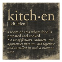 Kitchen Definition Fine Art Print