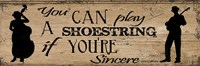 Shoestring Framed Print