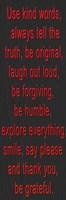 Use Kind Words Red Bevel Framed Print