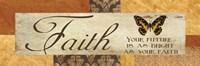 Faith Your Future Framed Print