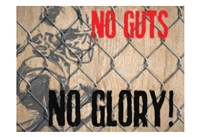 No Guts Framed Print