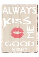 Always Kiss Framed Print