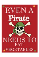 Pirate Must Eat Framed Print