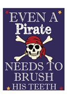 Pirate Must Brush Framed Print