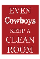 Cowboys Clean Room Framed Print