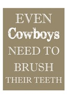 Cowboys Must Brush Framed Print