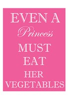 Princess Must Eat Framed Print