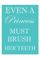 Princess Must Brush Framed Print