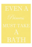 Princess Must Bathe Framed Print