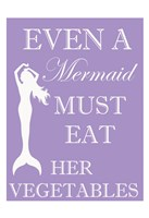 Mermaid Must Eat Fine Art Print