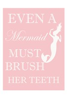 Mermaid Must Brush Framed Print