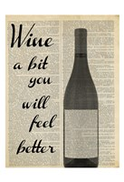 Wine A Bit Framed Print