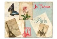 Je Taime Parise 2 Framed Print