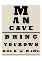 Man Cave Chart Fine Art Print