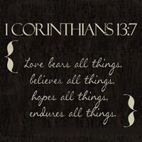 1 Corinthians 13-7-NKV Fine Art Print