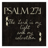 Psalm 27-1 Fine Art Print