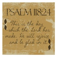 Psalms 118-24 Gold Fine Art Print