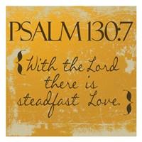 Psalms 130-7 Orange Framed Print