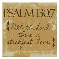 Psalms 130-7 Gold Framed Print