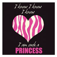 Such A Princess No Distress Framed Print
