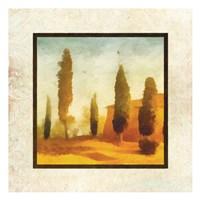 Damask Landscape II Framed Print
