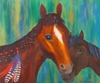 Horse Feathers Fine Art Print
